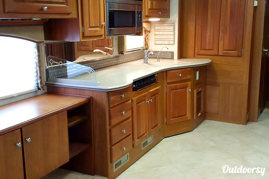 2005 Monaco Diplomat Old Bethpage, New York Kitchen and work space.