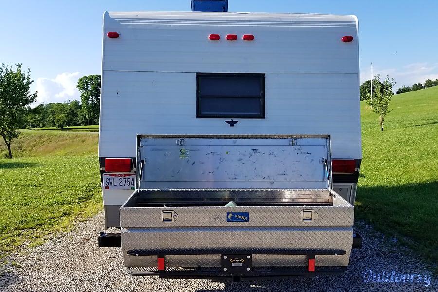 1986 Skyline Funtime Marietta, Ohio Rear Cargo Box.  Extra lightweight storage.