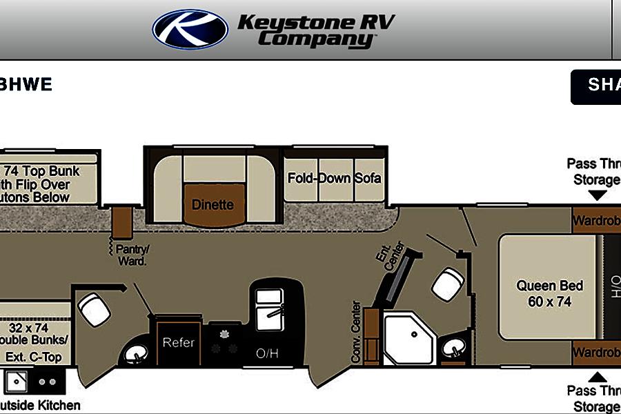 2017 Keystone Passport Mogadore, Ohio This is the floor plan.