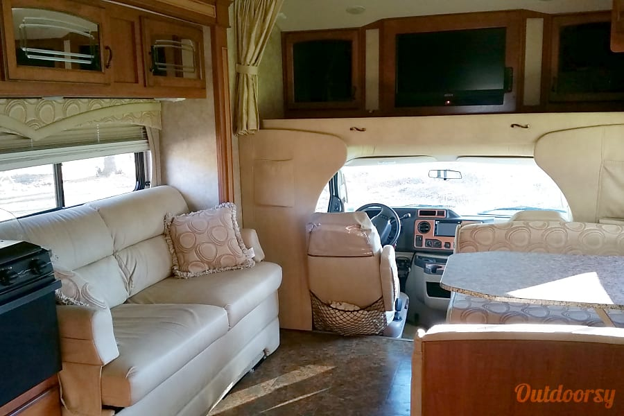 2010 Jayco Greyhawk Broadalbin, New York Pull out couch and table that drops down into bed.