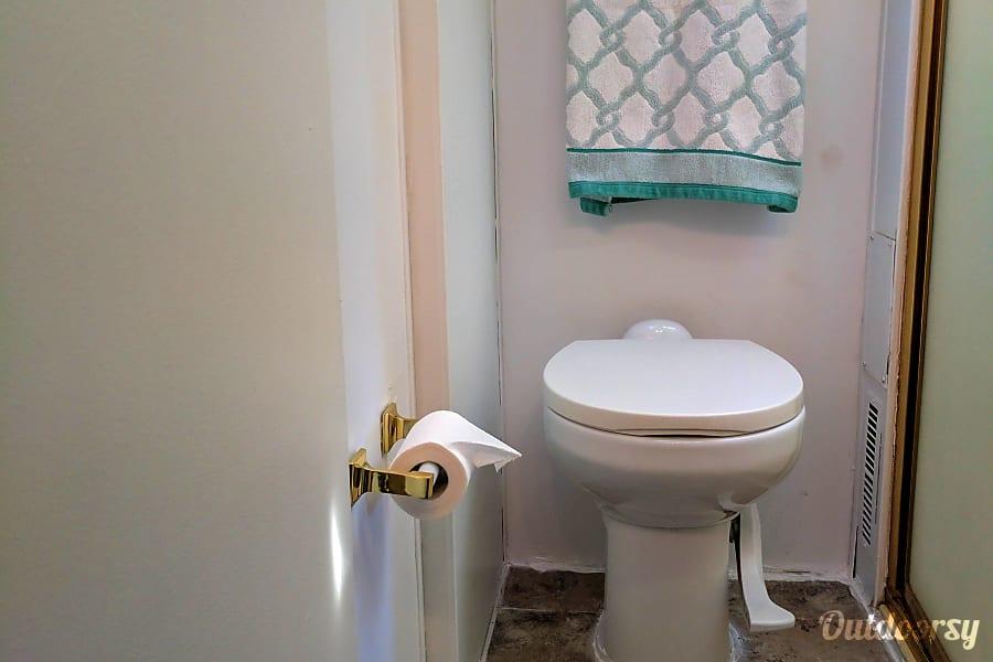 Peggy, our 1995 Fleetwood Flair Montebello, California toilet