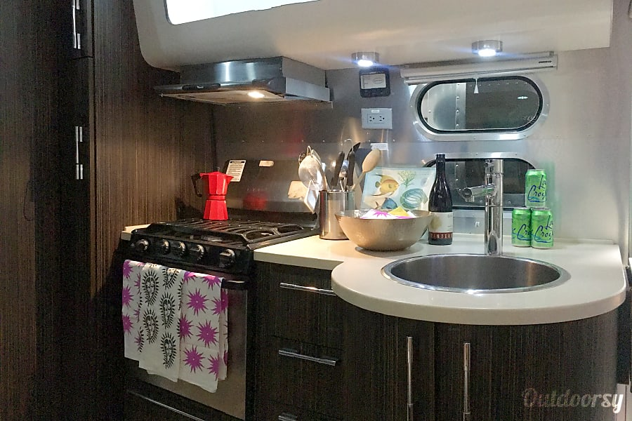 2014 Airstream International Ventura, California Kitchen stocked with all basic needs. Large sink and loads of storage