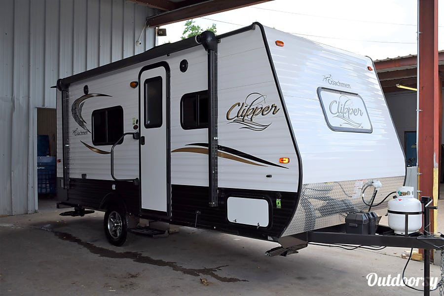 "exterior 2017 Coachmen Clipper (17') - nicknamed ""Bandera"" Houston, TX"