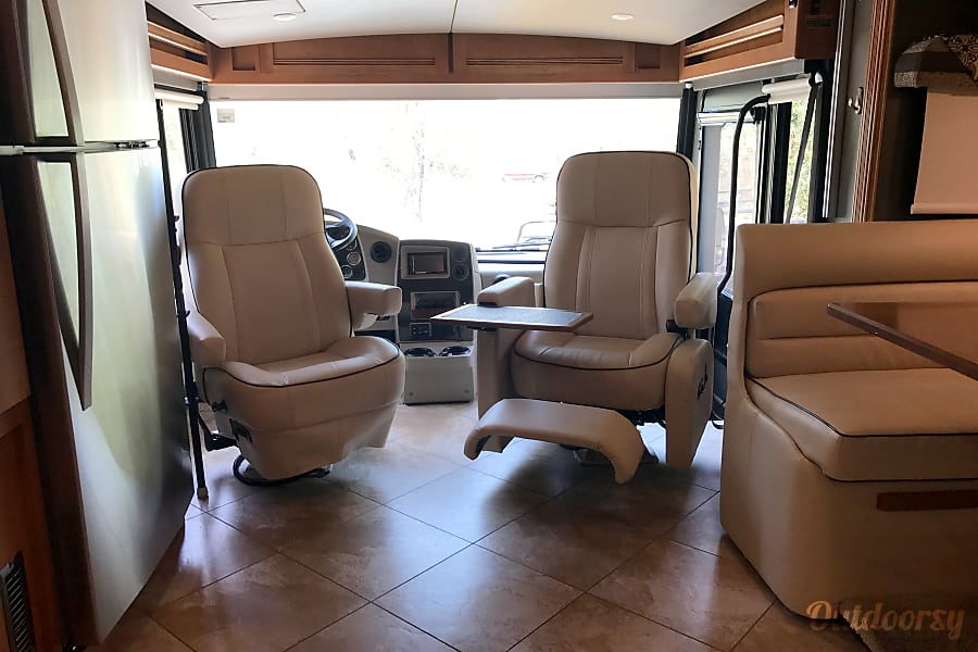New, Clean, Comfort for the Whole Famliy Loomis, California Driving seats are captain's (reclining) chairs for additional family room seating.