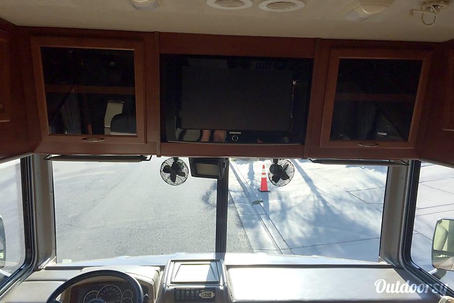 2008 Fleetwood Bounder Perris, California inside front flat screen TV