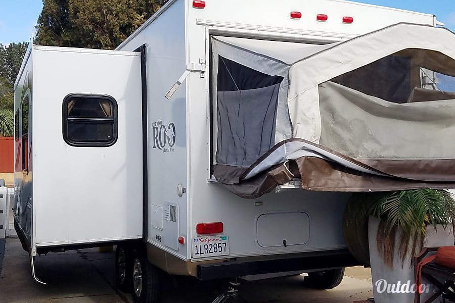 "exterior Rockwood Roo Hybrid aka ""The Cabin"" San Diego, CA"