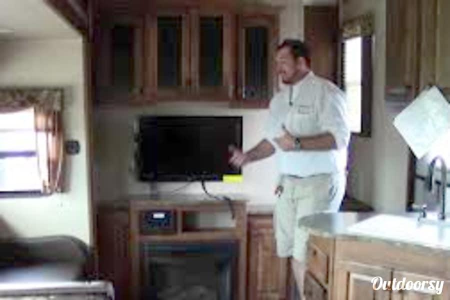 2015 Keystone Sprinter Spring Lake, North Carolina Entry with TV Fireplace!
