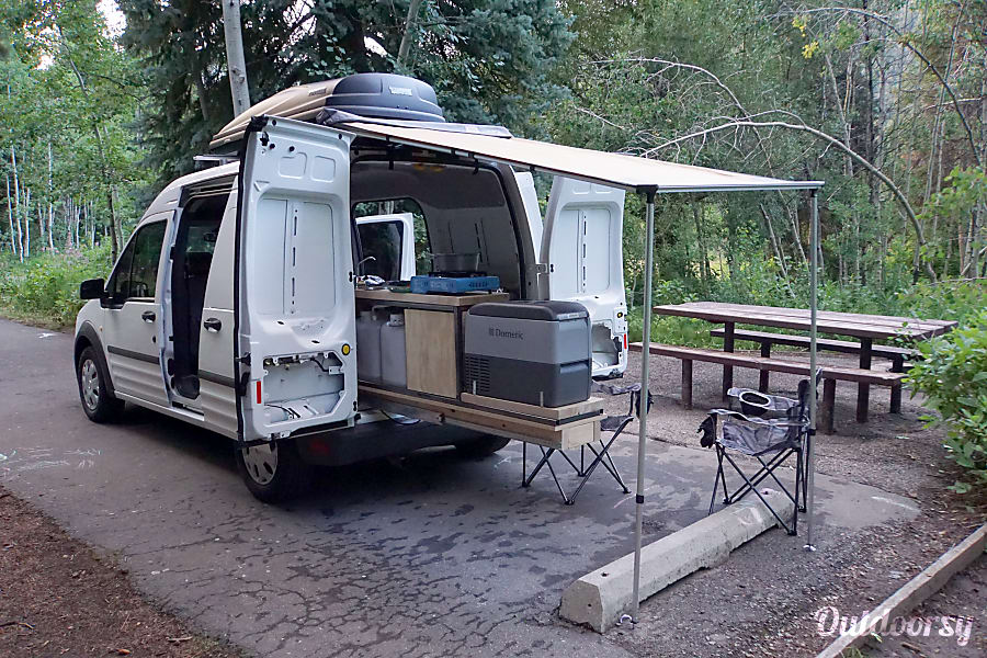 2012 ford transit connect motor home camper van rental in. Black Bedroom Furniture Sets. Home Design Ideas