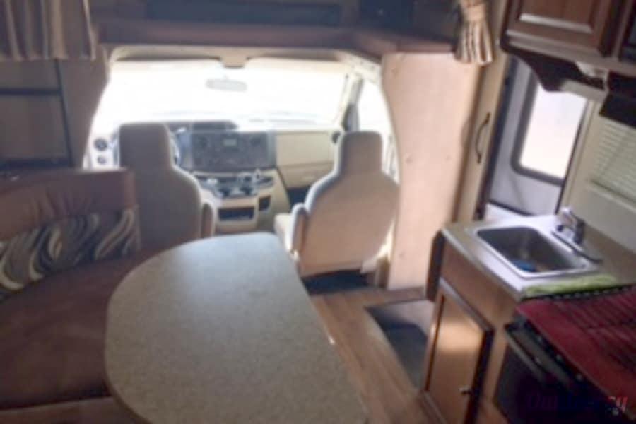 2013 Coachmen Leprechaun Colorado Springs, CO interior from rear to front
