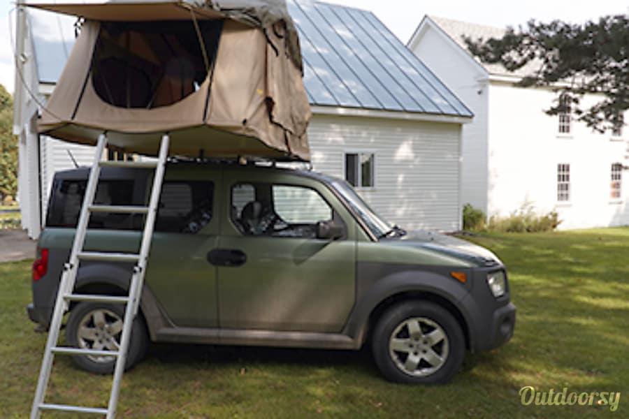 exterior 2005 Honda Element Roof Top Tent & Camp Portland, ME