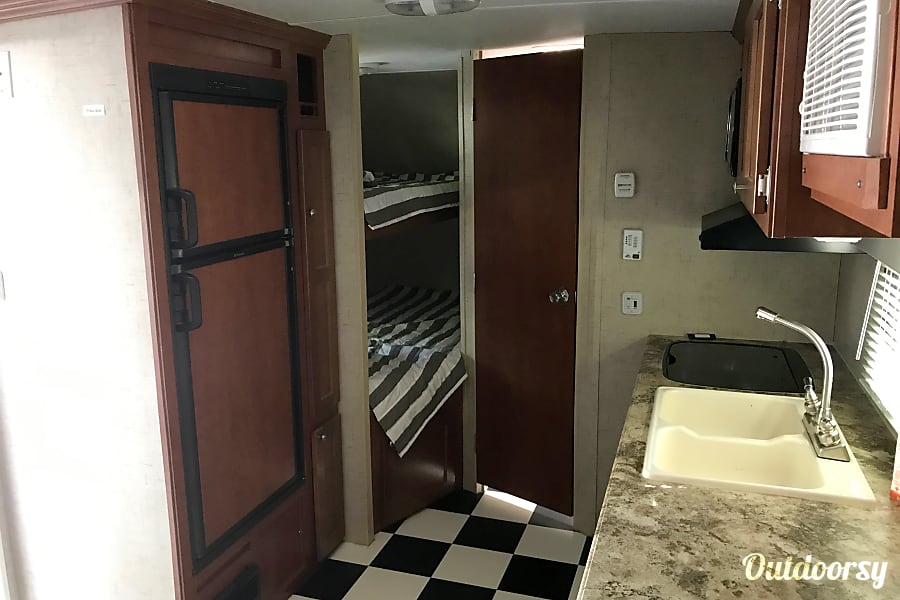 2016 Riverside RV Whitewater Retro With Bunk Beds Sleeps 4. A blast from the past! St. George, Utah Fridge and bunk beds
