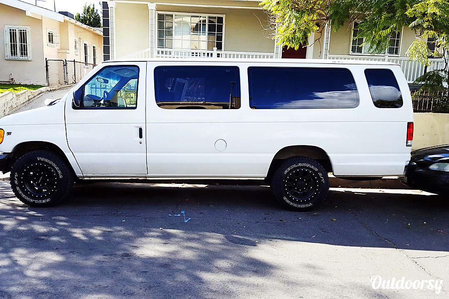 exterior 2001 Ford E350 Adventure Van with Offroad Tires Los Angeles, CA