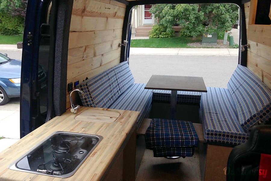 interior 'Blue' the Sprinter Van (2016 Mercedes Benz 4x4) Aspen, Colorado