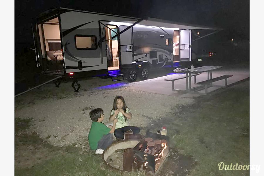 2016 Forest River Other St. Louis, MO Full view of night scene of our RV.
