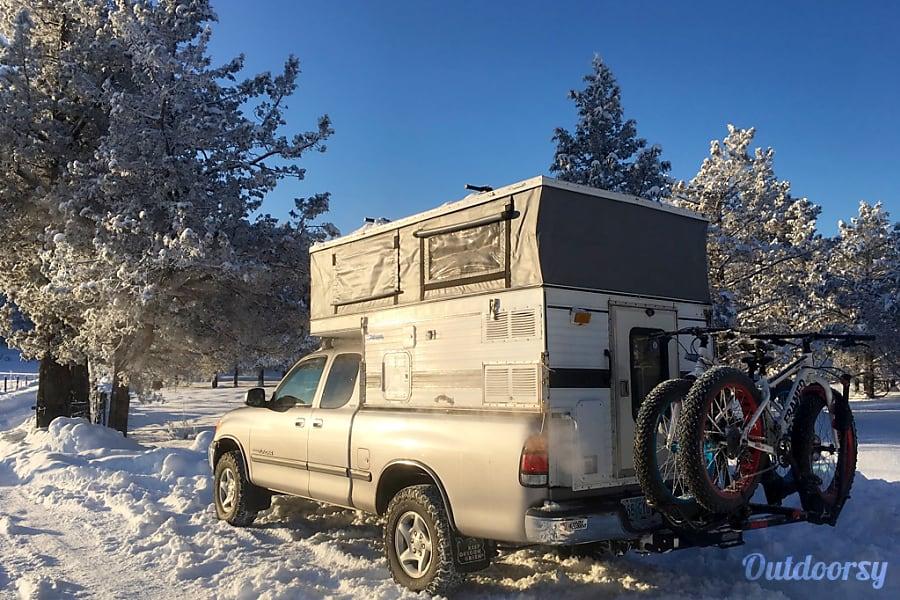 exterior Rocinante: Toyota Tundra 4x4 + Four Wheel Camper Pop-up Portland, OR