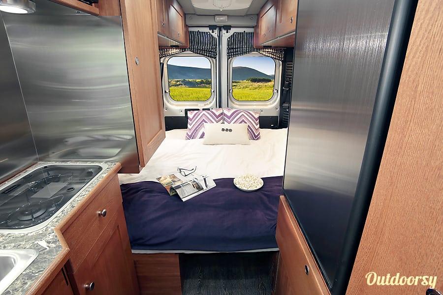 2016 Roadtrek Simplicity Phoenix, Arizona View of bedroom from the kitchen