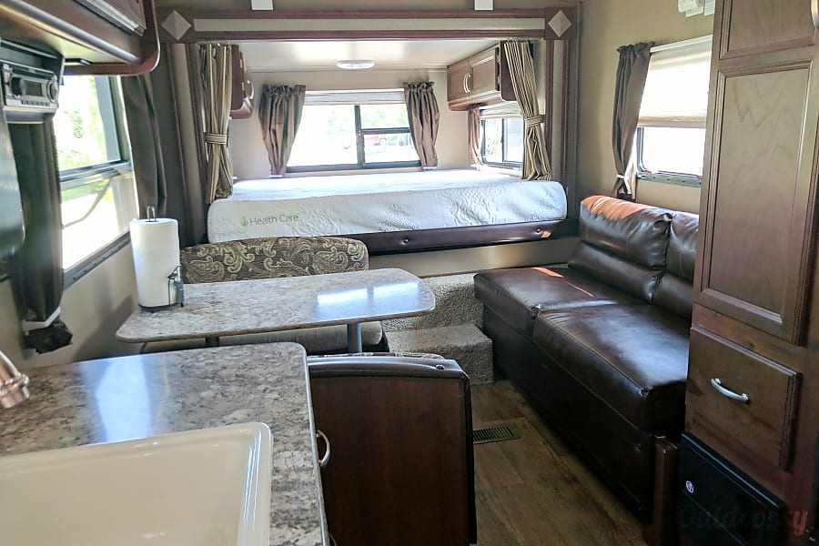 2016 Keystone Outback Terrain Timnath, Colorado Main cabin with everything set up