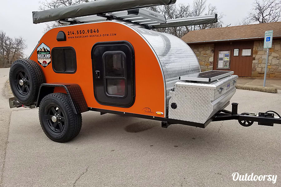 Orange 5x10 ORE Teardrop Trailer Corinth, TX