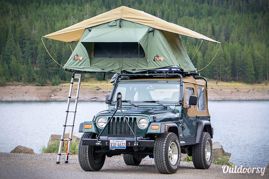 "exterior Jeep Wrangler "" The Green Machine"" Bozeman, MT"