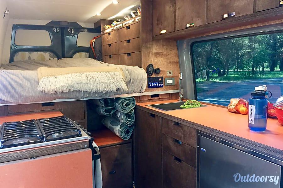 Luxury Sprinter w/ Expansive Gear Garage Calgary, Alberta Extensive counter space!