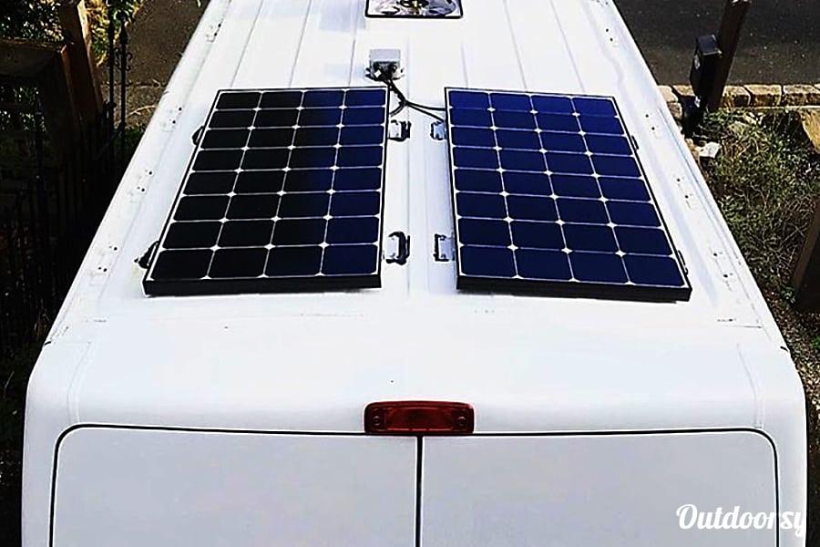 2014 nissan nv 2500 hd motor home camper van rental in for Solar panels for 2500 sq ft home