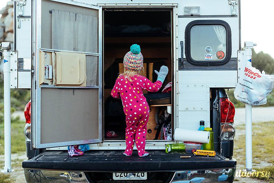 2008 Toyota Tundra with '06 Four Wheel Camper Hawk (aka Tony Hawk) Salt Lake City, Utah Kids love camping.