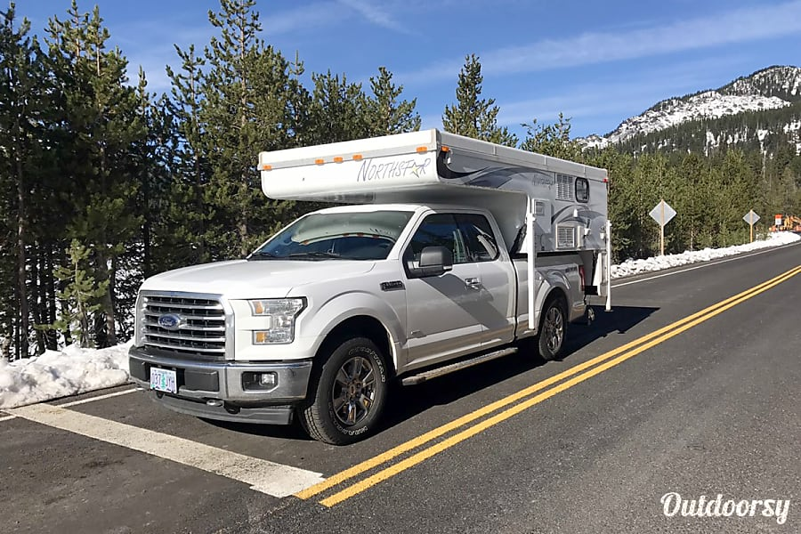 "Truck Camper ""Canyon"" Fully Outfitted+Solar! Keizer, Oregon The Canyon with an F150."