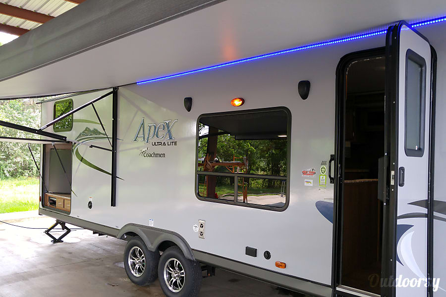 2017 Coachmen Apex Macon, GA Exterior of camper. Large Canopy