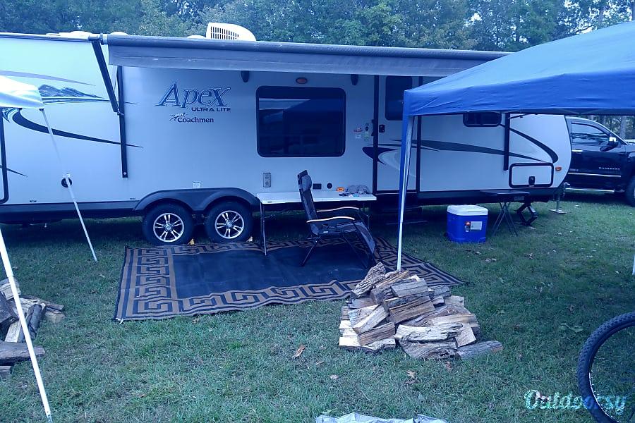 2017 Coachmen Apex Macon, Georgia Camper setup at outdoor event