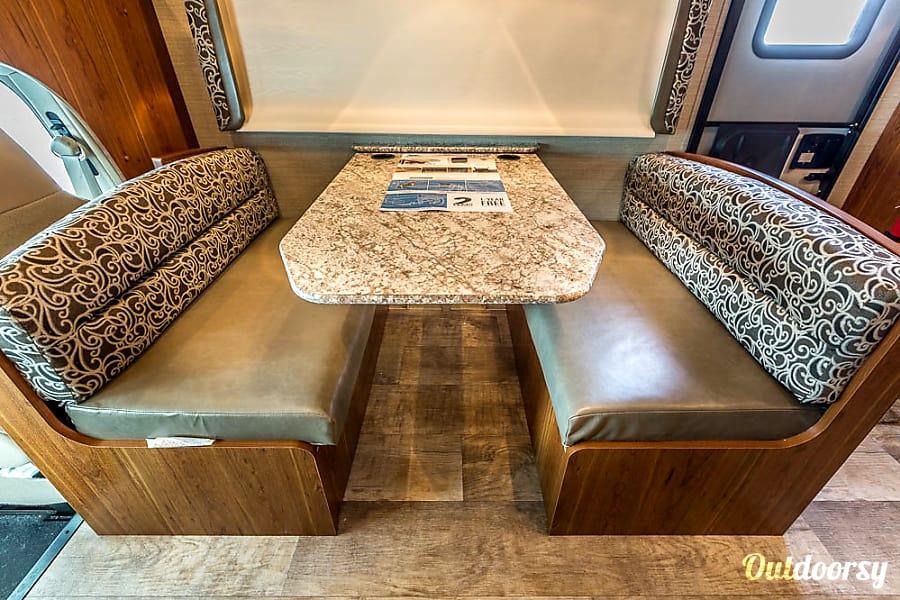 Fun Times Ahead! WAYTOGO Jayco 2017 Redhawk Boerne, TX Dinette seating (dealership photo)