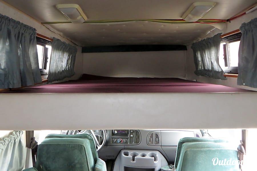 2000 Dodge Phoenix Camper Van Rancho Palos Verdes, California Queen size bed up top - fits 2 people.