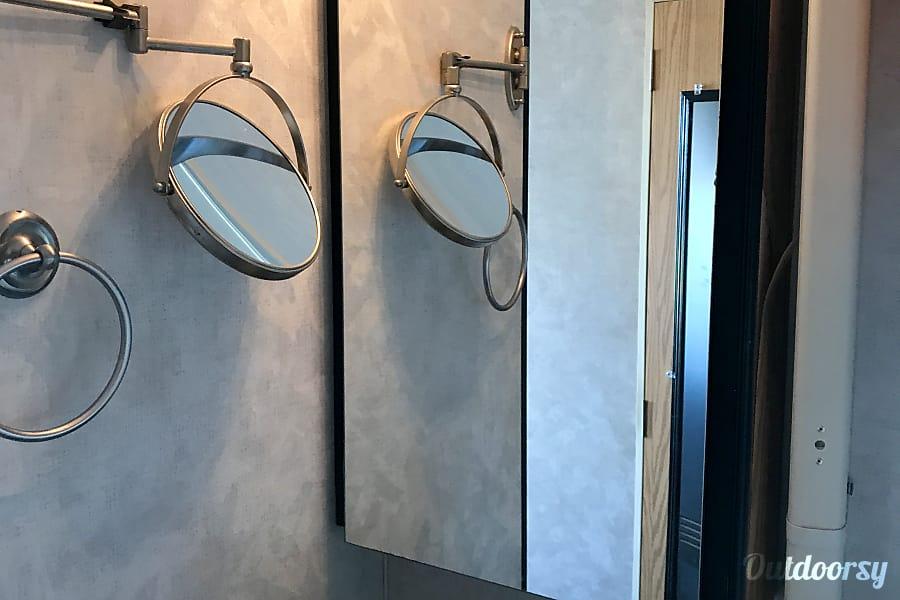 2004 Holiday Rambler Next Level DeKalb, Illinois Front Bedroom Sink with vanity Mirror