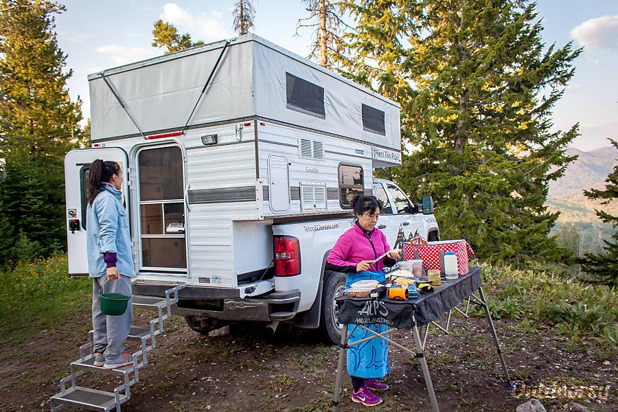 Grandby Four Wheel Camper on GMC Sierra SAN FRANCISCO, CA