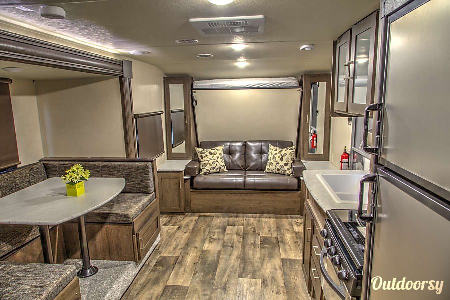 2018 Forest River Cruise Lite 230BHXL Corsicana, Texas View of interior kitchen , dinette and Sofa...