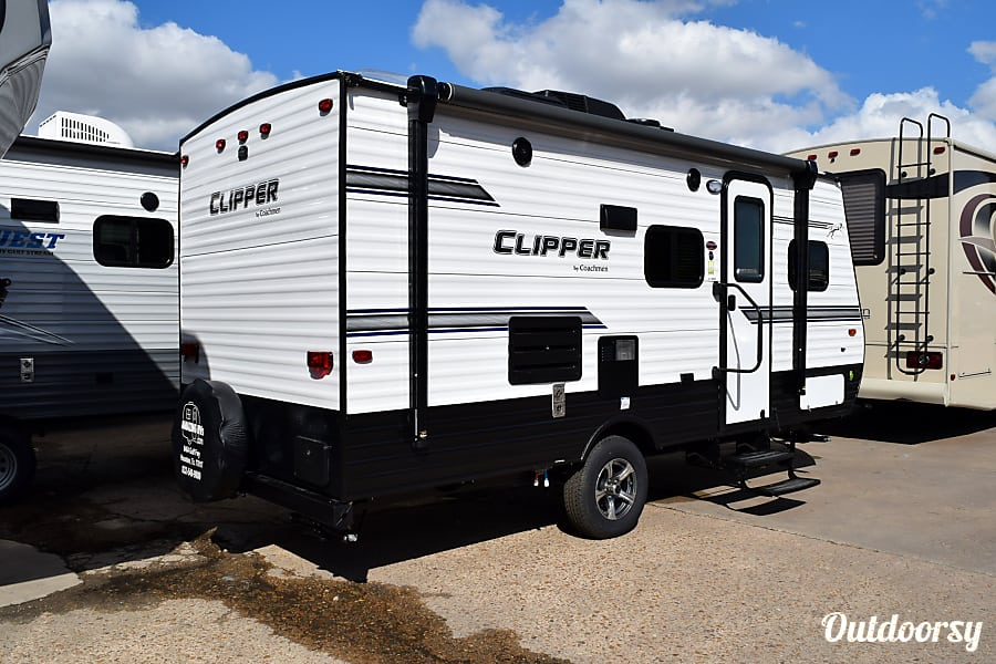 "exterior 2018 Coachmen Clipper (17') - nicknamed ""Galveston"" Houston, TX"