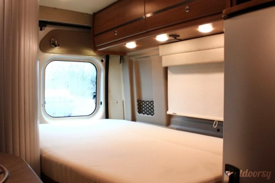 """Big Red"" 2015 Winnebago Travato - 59G in Phoenix Phoenix, Arizona Fold down rear bed, LED lights are everywhere for lighting efficiency."