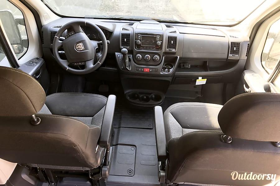 "interior ""Vanzilla"" - 2017 Dodge 2500 Promaster Los Angeles, CA"