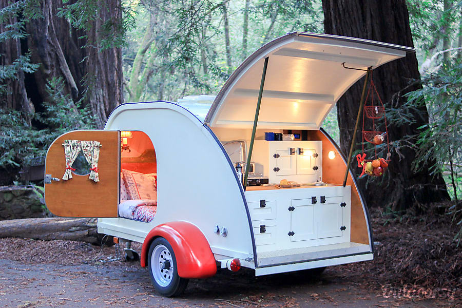 exterior 2015 Woody Teardrop Custom 4x8 Fairfax, CA