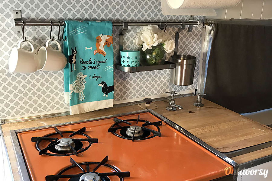 interior Updated Vintage Camper Tiny Home - WiFi and Composting Toilet Denver, CO