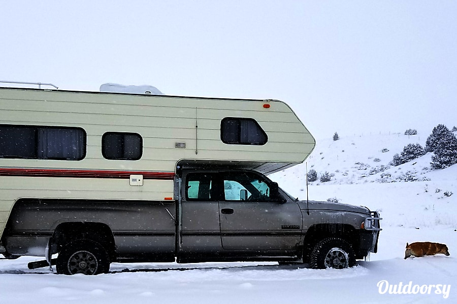 exterior 1994 Cascade Big Sky Series Camper on 1996 Dodge Ram 2500 4WD Truck Bozeman, MT