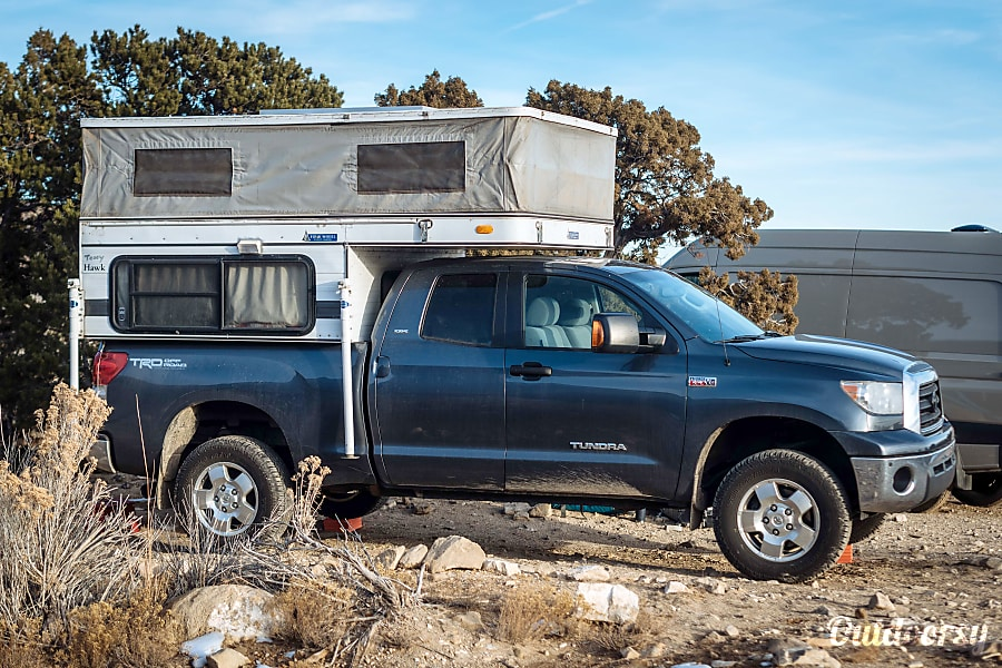 2008 Toyota Tundra with '06 Four Wheel Camper Hawk (aka Tony Hawk) Salt Lake City, UT Raised for camping.
