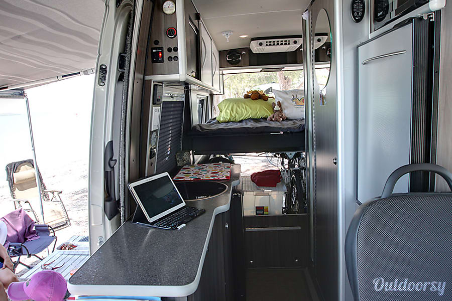 interior Mercedes Sprinter RV Van Durango, CO