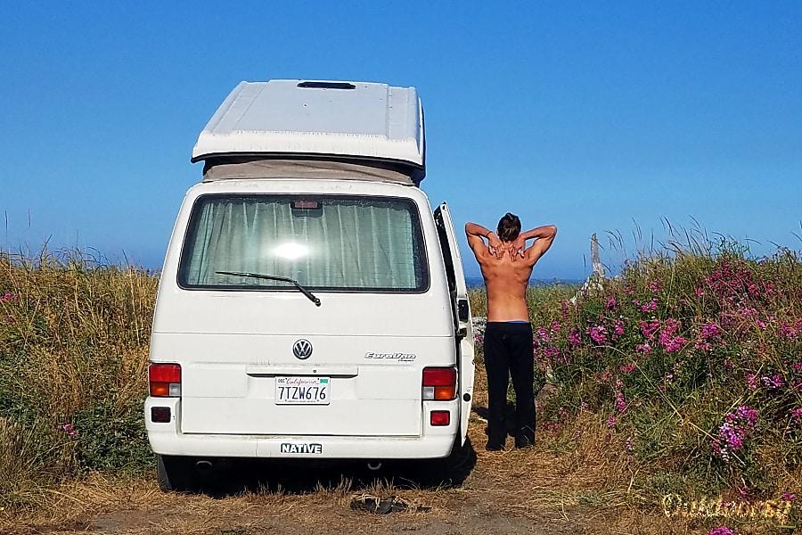 "exterior 1997 Volkswagen Westfalia aka ""Cosmic Fly By"" Grass Valley, CA"