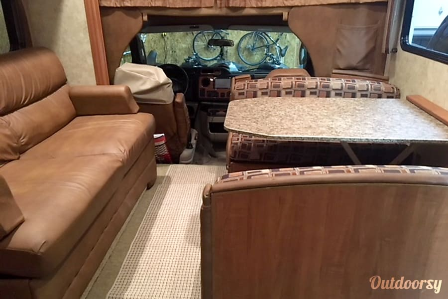interior 2010 Jayco Greyhawk 31 FS Bunkhouse - Sleeps 10 - unlimited generator and generous miles Hebron, IN