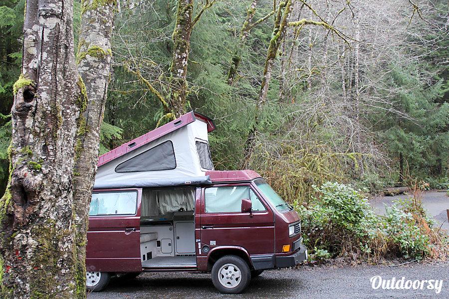 Peace Vans Rentals #21: 1990 VW Vanagon Full Camper Seattle, WA