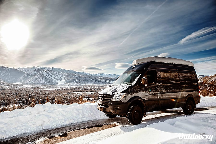 exterior 'Blue' the Sprinter Van (2016 Mercedes Benz 4x4) Aspen, CO