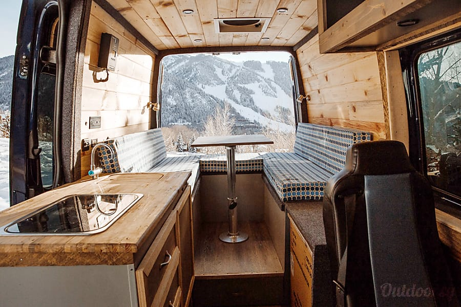interior 'Blue' the Sprinter Van (2016 Mercedes Benz 4x4) Aspen, CO
