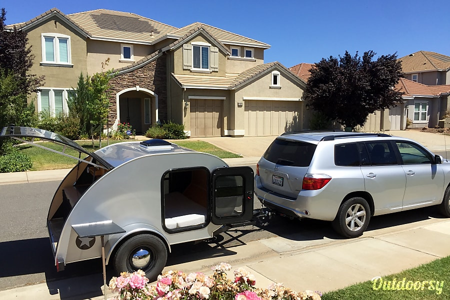 exterior Teardrop Travel Trailer Rancho Cordova, CA