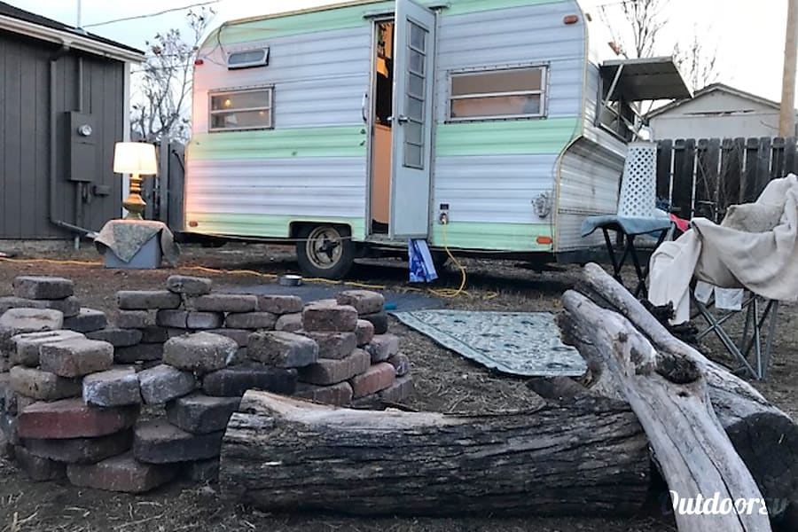 exterior Updated Vintage Camper Tiny Home - WiFi and Composting Toilet Denver, CO