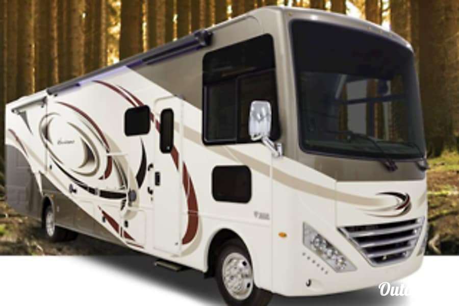 exterior Remi the RV is a  2017 Thor  Hurricane 35M Reading, PA